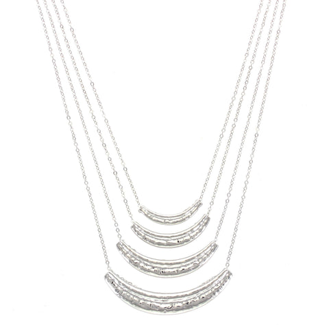 Olivia Welles - Silver Layers Necklace
