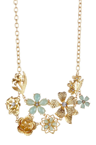 Olivia Welles - Minty Bouquet Necklace
