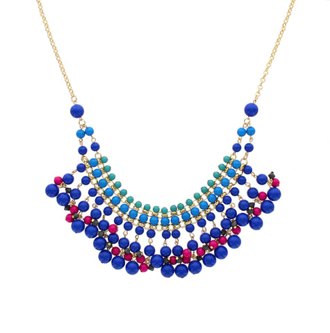 Olivia Welles - Bari Fringe Bead Necklace