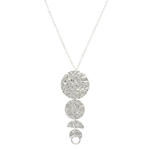 Sparkling Sage - Coin Plated Moon Phase Pendant Necklace