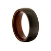 Woodland - Men's Matte Black Tungsten Ring With Wooden Center