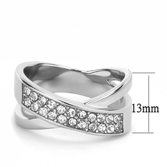 Winslet - A Beautiful Women's Stainless Steel CZ Statement Ring