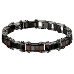 Stygian - Stainless Steel Multi Color 9mm Brushed Reversible Bracelet