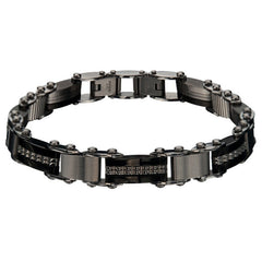 Turbo - Stainless Steel Black Polished Reversible Bracelet