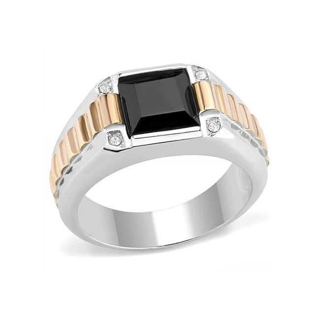 Industrious - Stainless Steel Two Tone IP Men's Ring