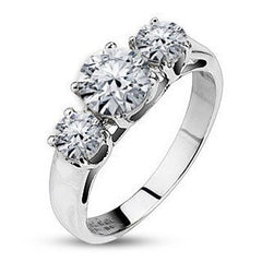 Enchantment - FINAL SALE Astonishing Piece Of Art Stainless Steel Ring with Cubic Zirconias