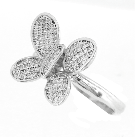 Settled Sparkle - CZ Butterfly Ring