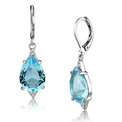 Pacific Blues - Stainless Steel Synthetic Glass Earrings