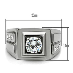 Big Ben - Men's Stainless Steel CZ Statement Ring