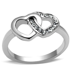 You And I - Stainless Steel Women's Intertwined Hearts Ring