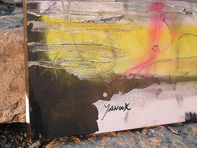 "Original Abstract Painting  16"" x 16""  by Yanook - Direct from Studio"