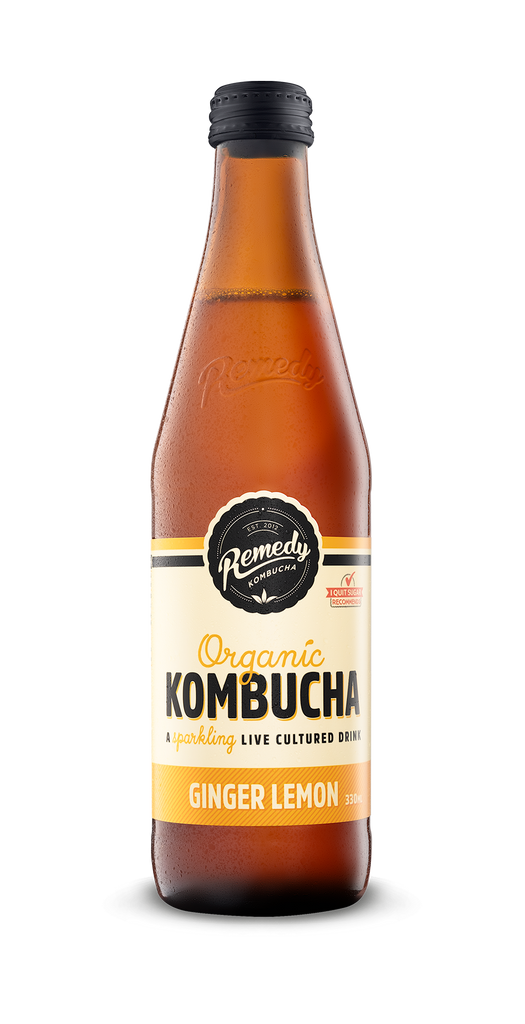 10% OFF Remedy Organic Kombucha Ginger Lemon 330ml