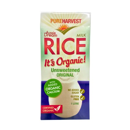 Pure Harvest Organic Aussie Dream Enriched Rice Milk