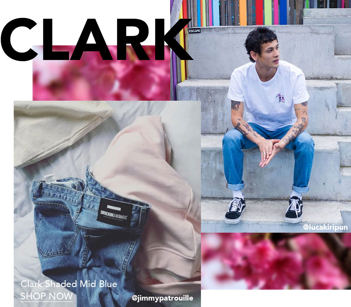 Clark Shaded Mid Blue