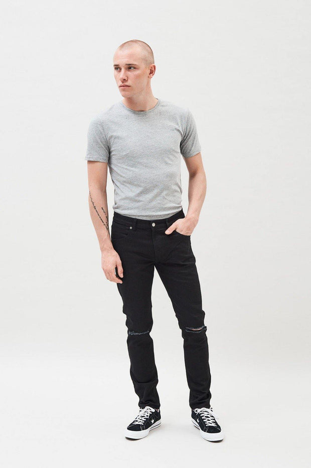 Clark Jeans Black Ripped Knees - Dr Denim Jeans - Australia & NZ