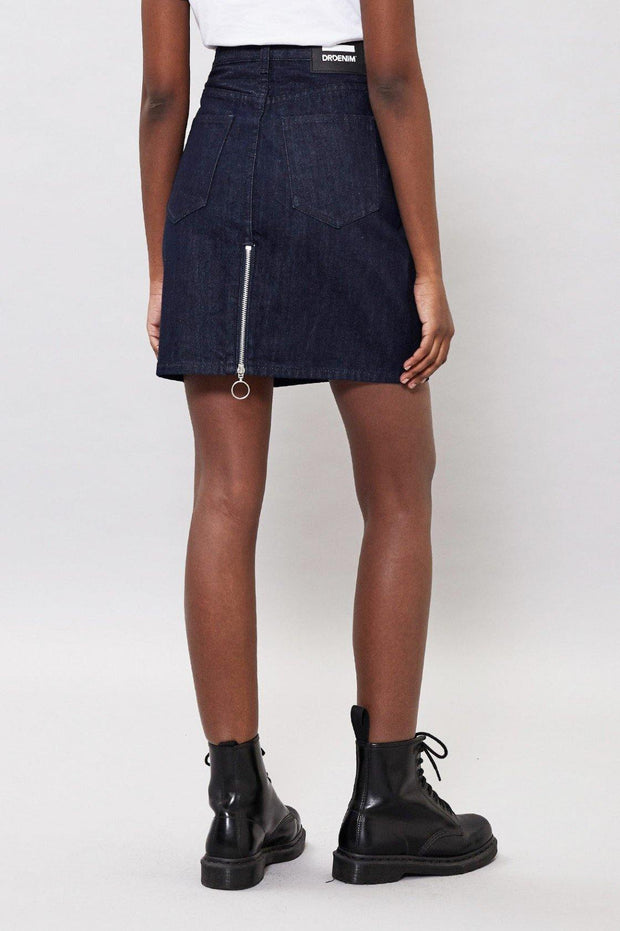 Bix Denim Skirt Rinsed Blue - Dr Denim Jeans - Australia & NZ