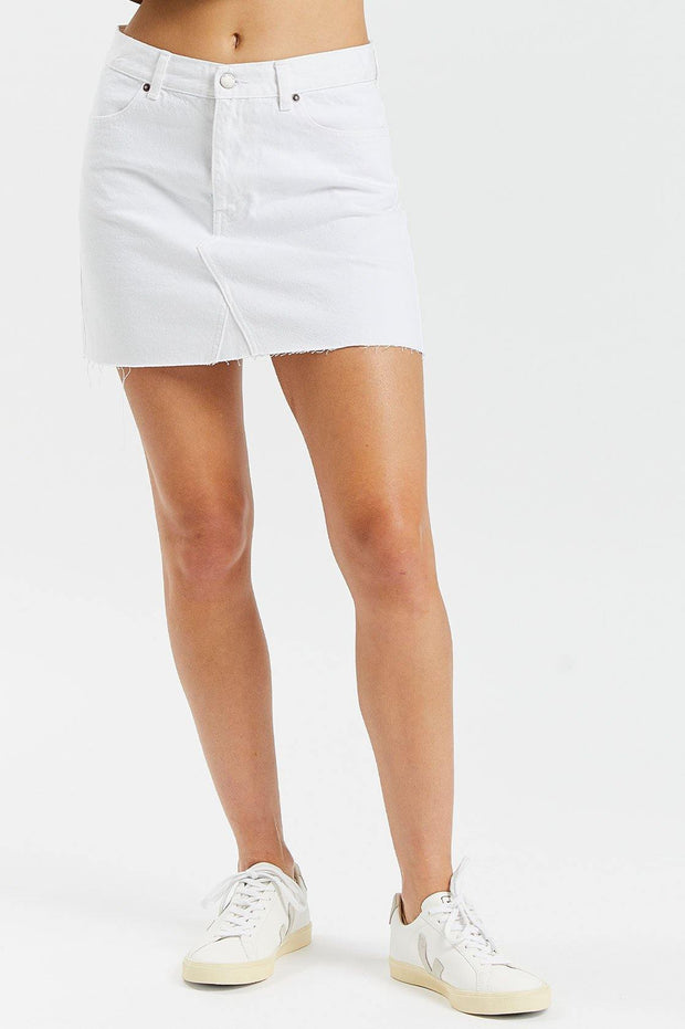 Anita Skirt White - Dr Denim Jeans - Australia & NZ
