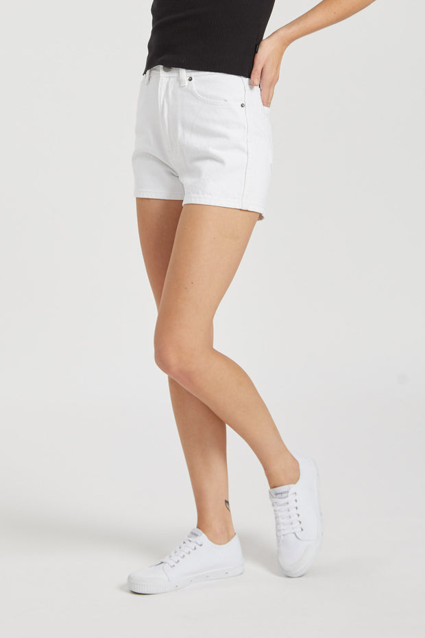 Jonna Shorts White - Dr Denim Jeans - Australia & NZ