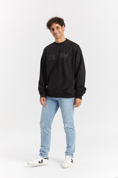 Philly Sweater Black AZ Wordmark - Dr Denim Jeans - Australia & NZ