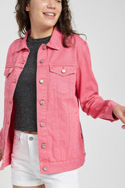 River Trucker Jacket Stone Pink