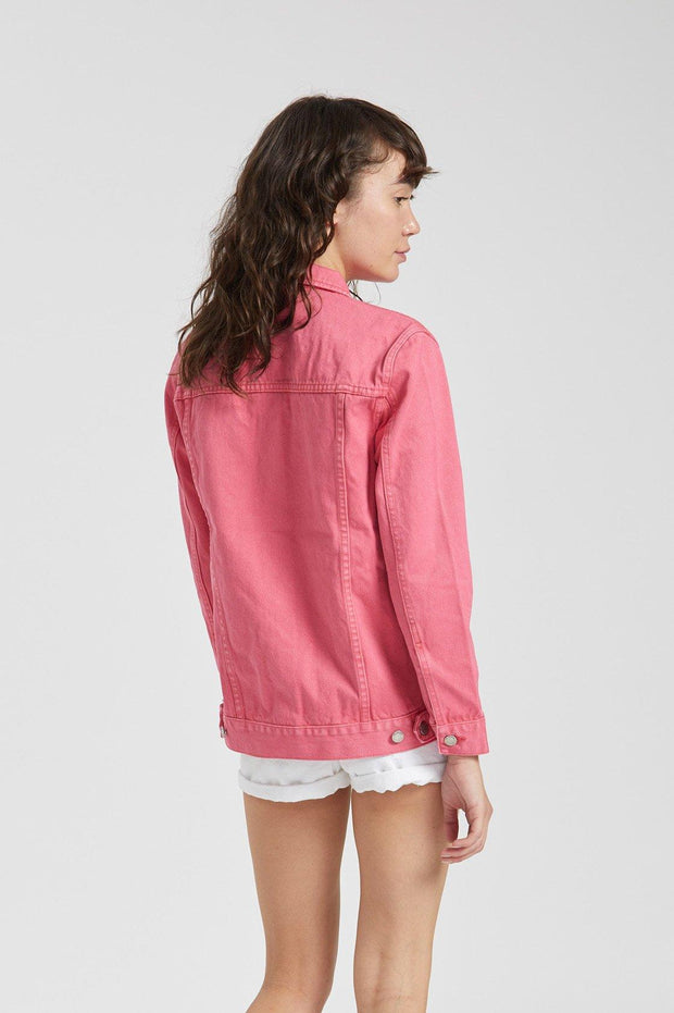 River Trucker Jacket Stone Pink - Dr Denim Jeans - Australia & NZ