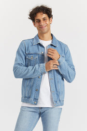 Roy Trucker Jacket Light Blue Ridge Stone - Dr Denim Jeans - Australia & NZ