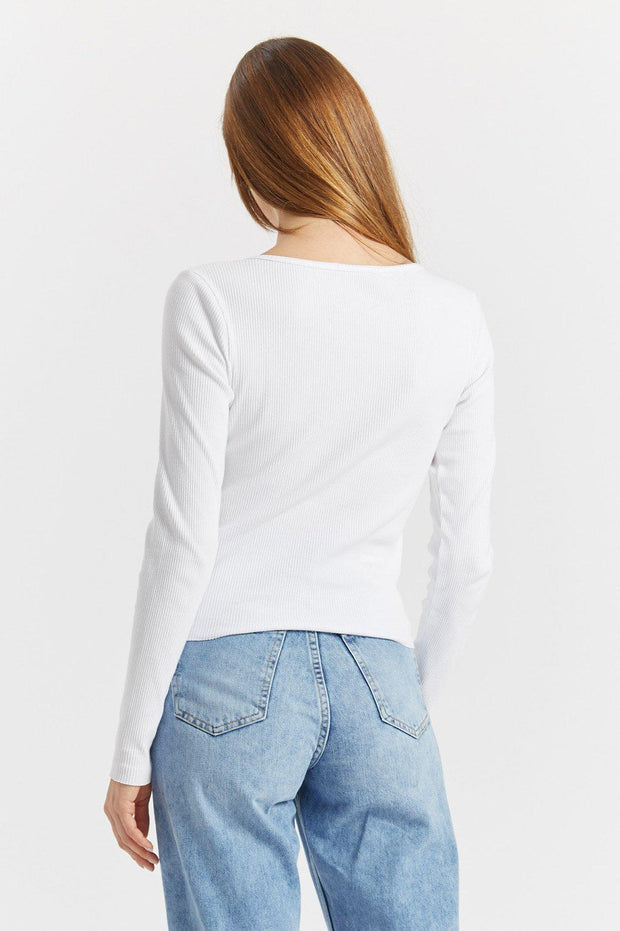 Toni Long Sleeve White - Dr Denim Jeans - Australia & NZ