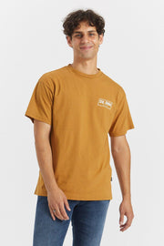 Trooper Tee Light Rust NE Wordmark - Dr Denim Jeans - Australia & NZ