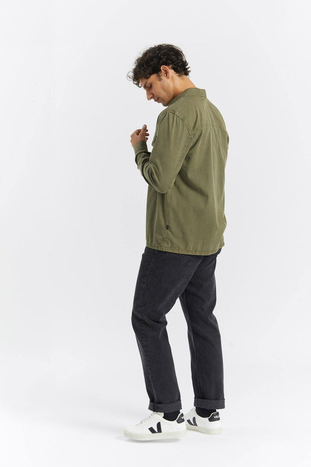 Cade Shirt Dark Emerald - Dr Denim Jeans - Australia & NZ