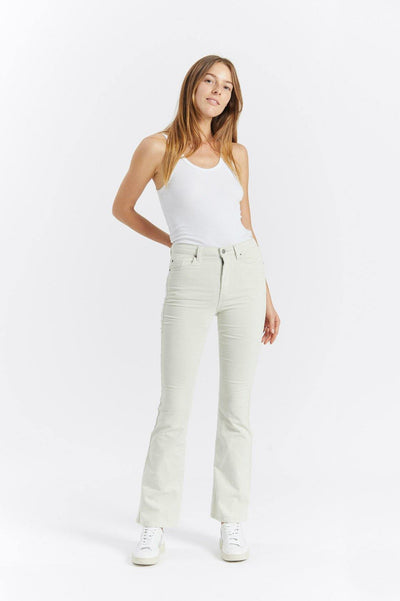 Dr Denim Jeans Australia & NZ - The Dallas Flared Jean in Pinfire is a high rise cord flare in a soft stretch fabric. Perfect for festival season, or to liven up your denim collection! Buy online now, or shop more women's denim jeans...