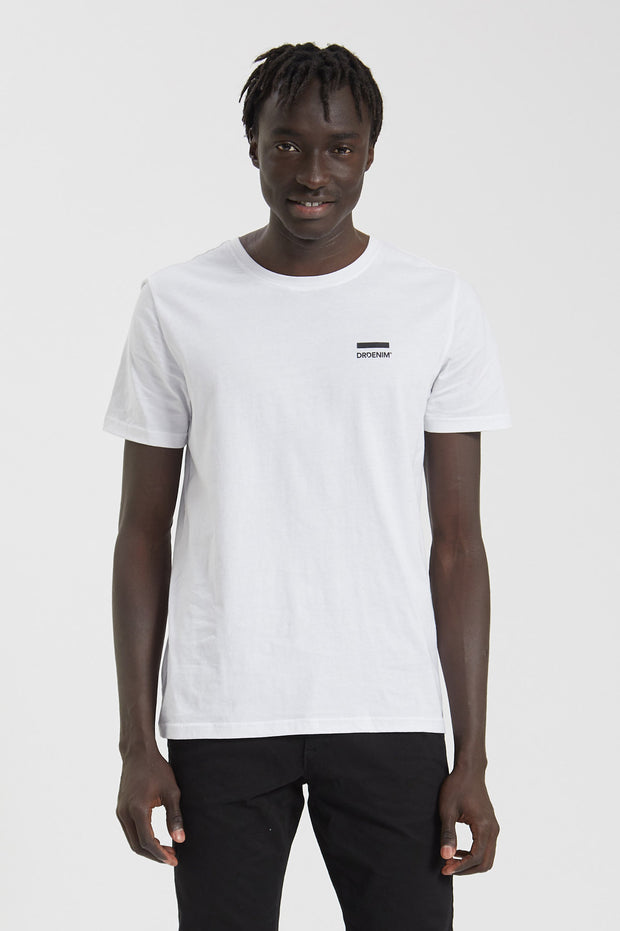 Patrick Tee White Small Logo - Dr Denim Jeans - Australia & NZ