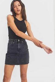 Echo Skirt Charcoal Black
