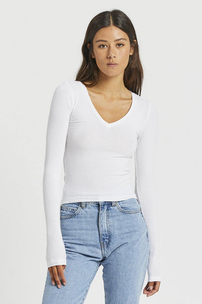 Katy Top - White - Dr Denim Jeans - Australia & NZ