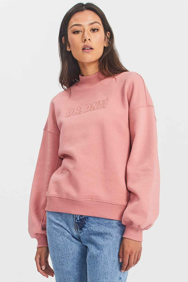 Memphis Sweatshirt Rose Blush NV Embroidery - Dr Denim Jeans - Australia & NZ
