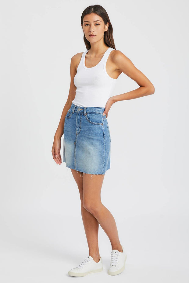 Echo Skirt Empress Blue | Dr Denim Jeans Australia