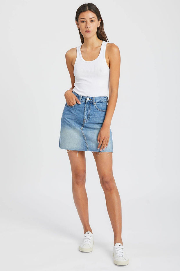 Echo Skirt Empress Blue - Dr Denim Jeans - Australia & NZ