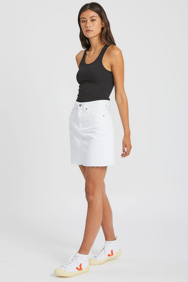 Echo Skirt White