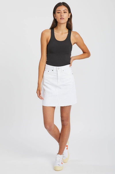 Echo Skirt White - Dr Denim Jeans - Australia & NZ