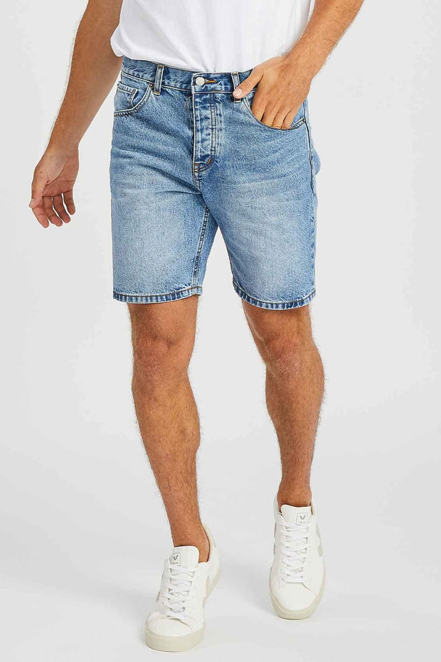Bay Shorts Light Blue Wash - Dr Denim Jeans - Australia & NZ