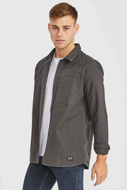 Dale Shirt Graphite - Dr Denim Jeans - Australia & NZ