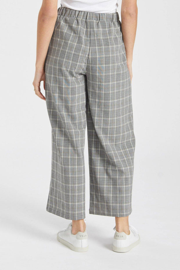 Abel Trousers Black White Check - Dr Denim Jeans - Australia & NZ