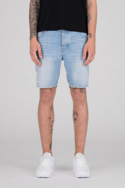 Bay Shorts Light Blue Ripped - Dr Denim Jeans - Australia & NZ