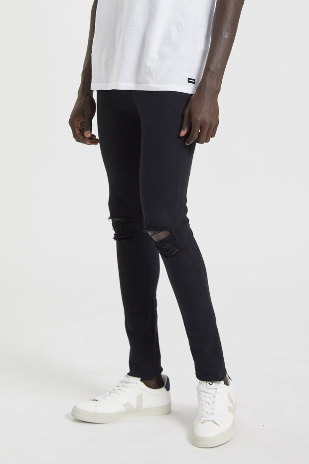 Leroy Jeans Black Ripped Knees - Dr Denim Jeans - Australia & NZ