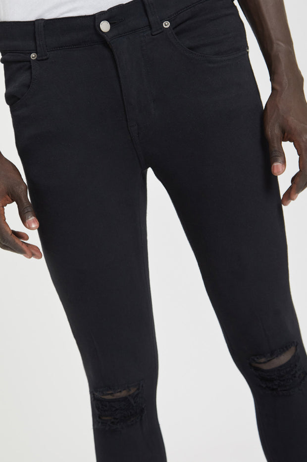 Leroy Black Ripped Knees - Dr Denim Jeans - Australia & NZ
