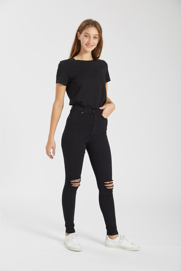 Luna Tee Black - Dr Denim Jeans - Australia & NZ