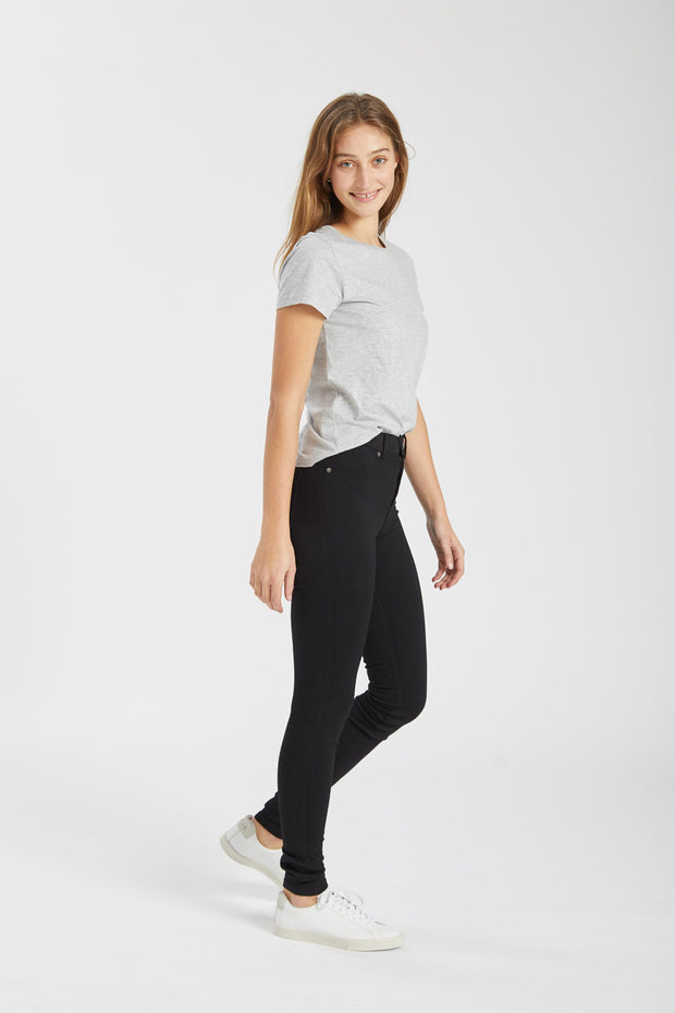 Luna Tee Light Grey Mix - Dr Denim Jeans - Australia & NZ