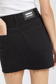 Mallory Skirt Black Button Fly - Dr Denim Jeans - Australia & NZ