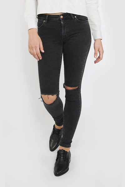Regina Jeans Old Black Destroyed