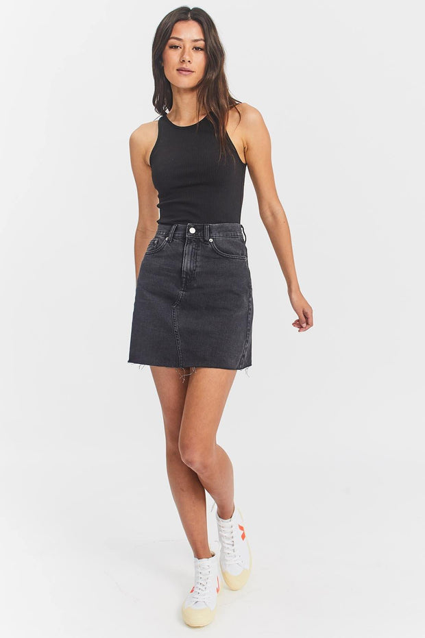 Echo Skirt Charcoal Black - Dr Denim Jeans - Australia & NZ