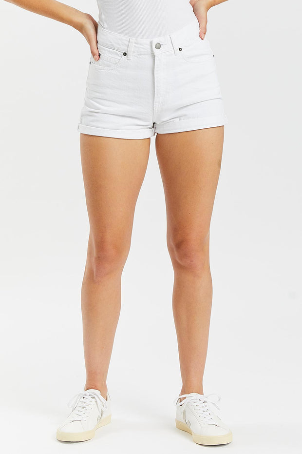 Jenn Shorts White - Dr Denim Jeans - Australia & NZ